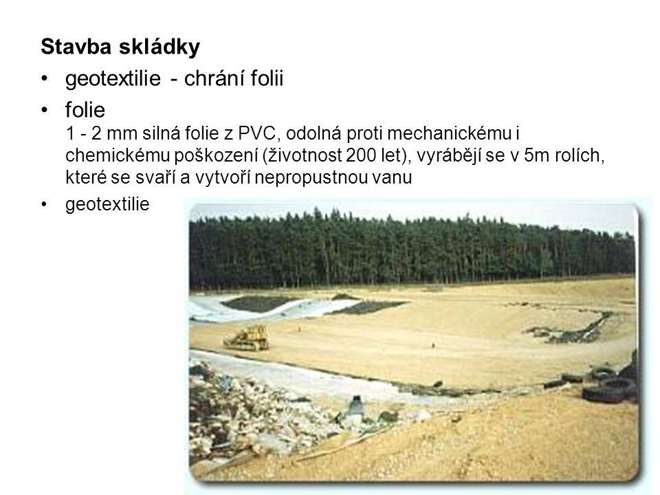geotextilie - chrání folii