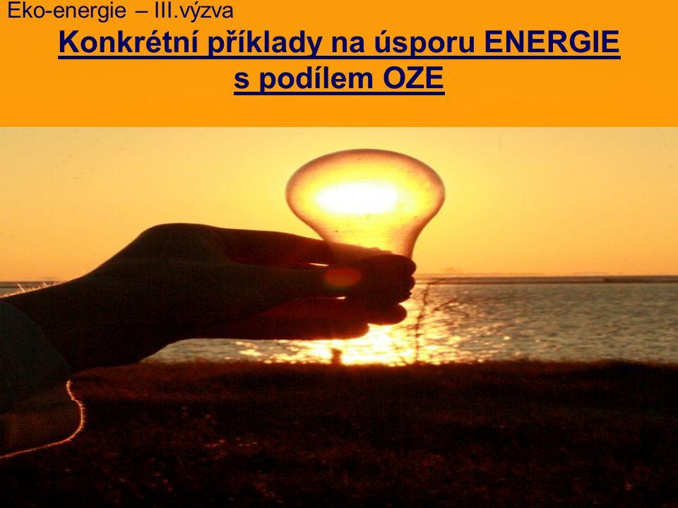 Veřejná podpora pro energeticky úsporné projekty