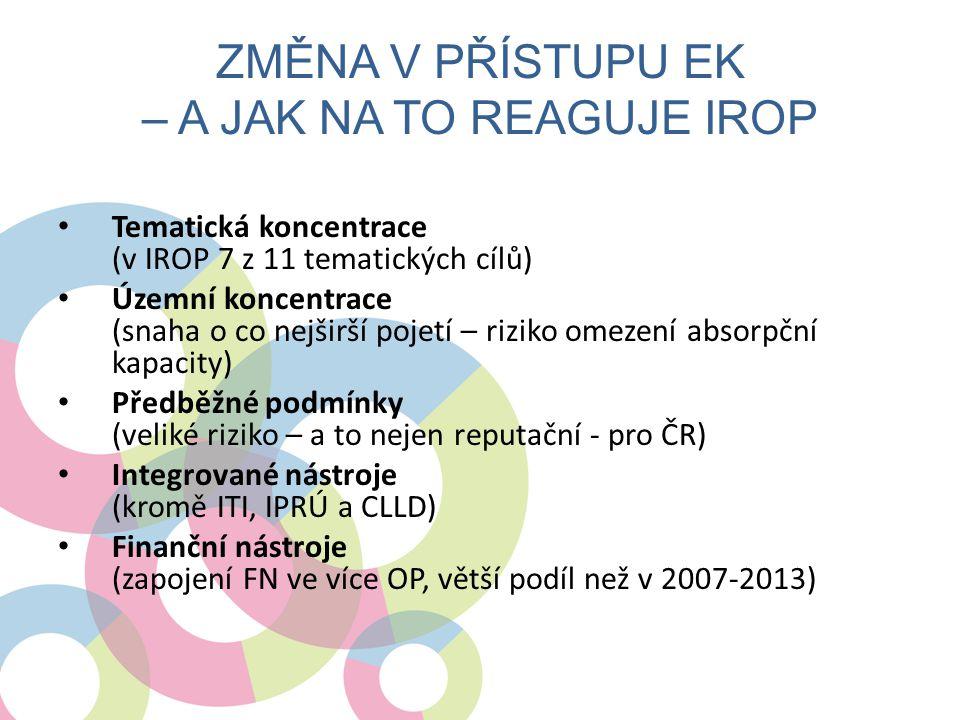 Změna v přístupu EK – a jak na to reaguje IROP