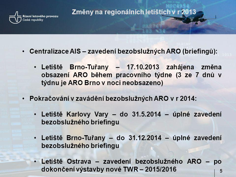 Změny na regionálních letištích v r 2013