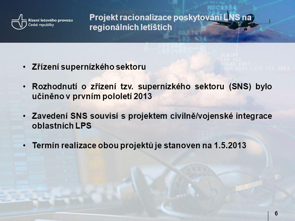Projekt racionalizace poskytování LNS na regionálních letištích