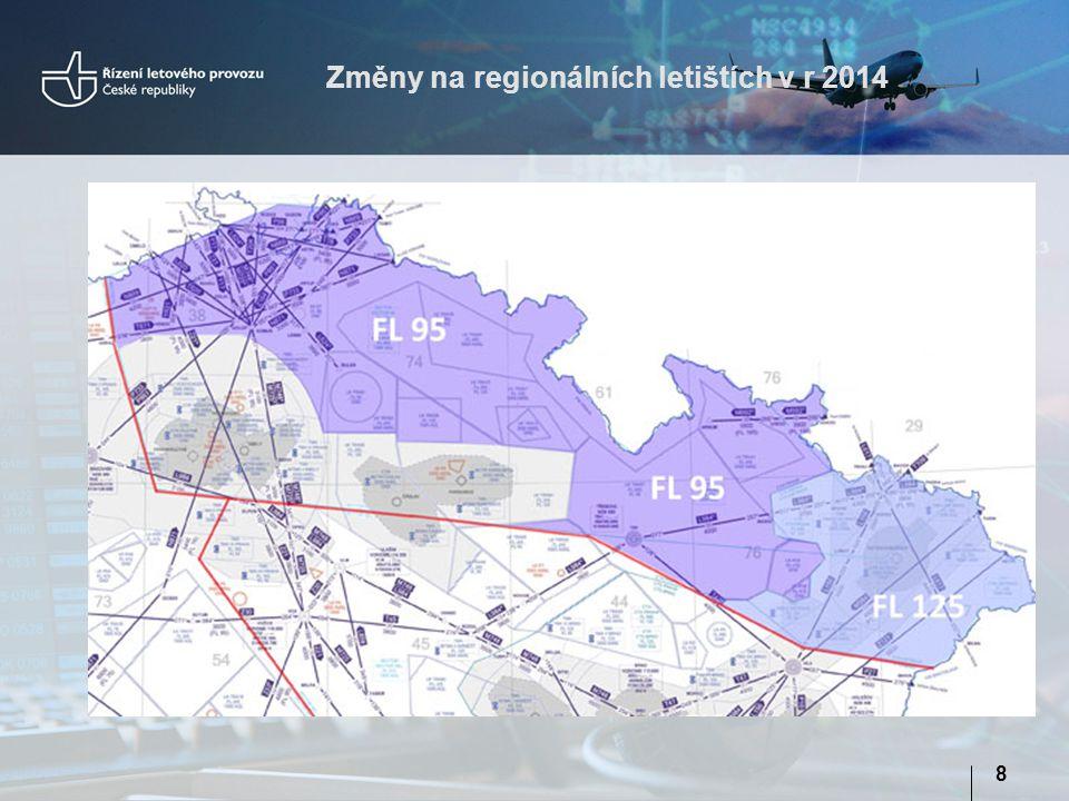 Změny na regionálních letištích v r 2014