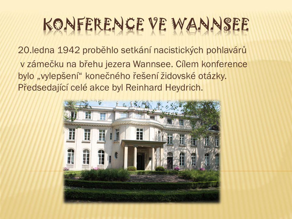 KONFERENCE VE WANNSEE 20.ledna 1942 proběhlo setkání nacistických pohlavárů.