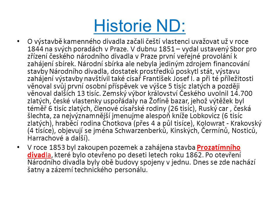 Historie ND: