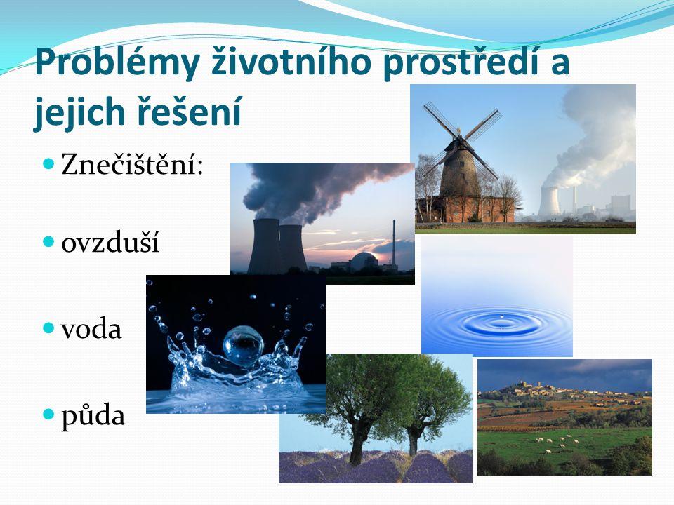 Problémy životního prostředí a jejich řešení
