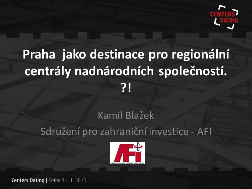Kamil Blažek Sdružení pro zahraniční investice - AFI
