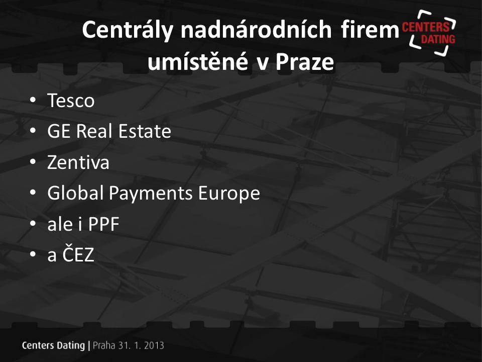 Centrály nadnárodních firem umístěné v Praze
