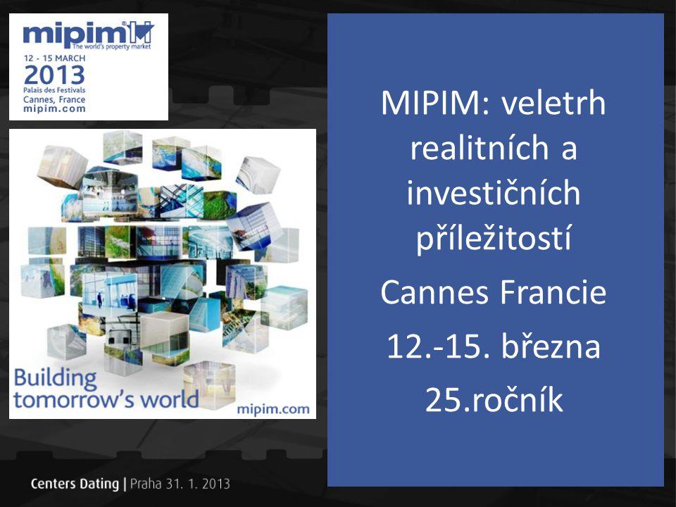MIPIM: veletrh realitních a investičních příležitostí