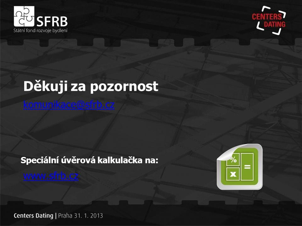 Děkuji za pozornost komunikace@sfrb.cz www.sfrb.cz