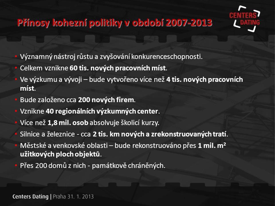 Přínosy kohezní politiky v období 2007-2013