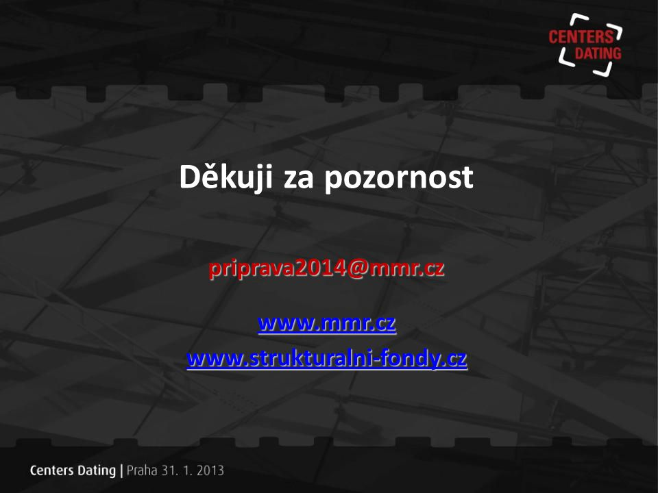 Děkuji za pozornost priprava2014@mmr.cz www.mmr.cz