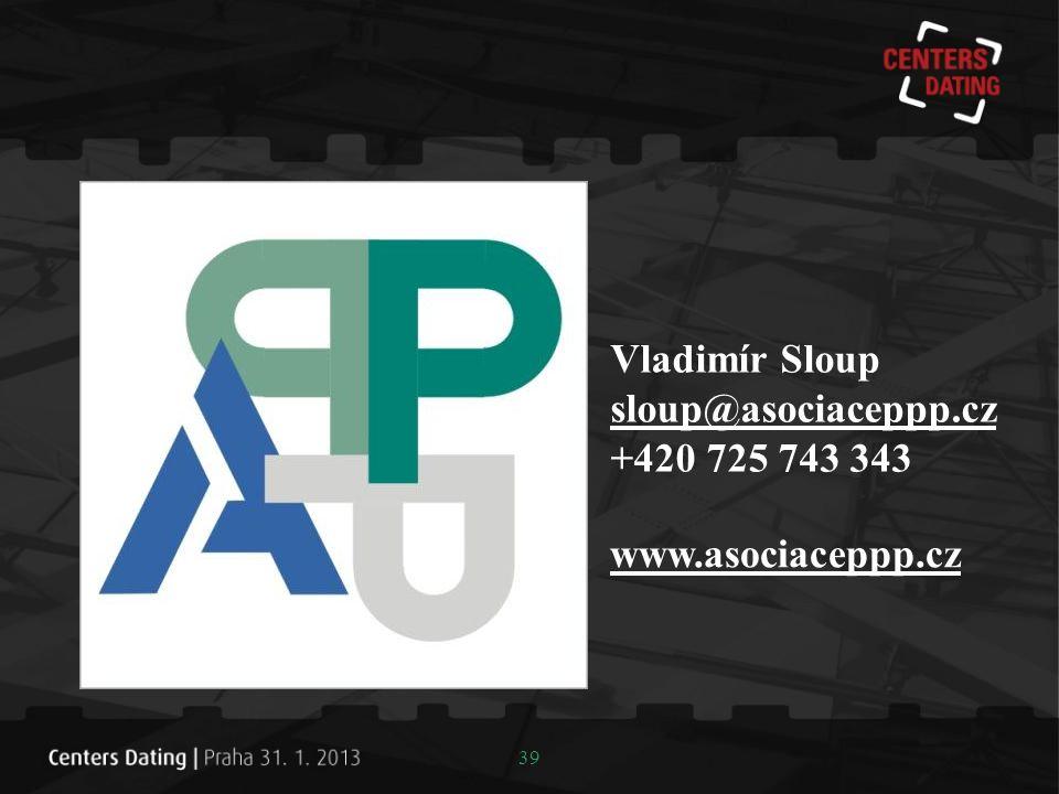 Vladimír Sloup sloup@asociaceppp.cz +420 725 743 343 www.asociaceppp.cz