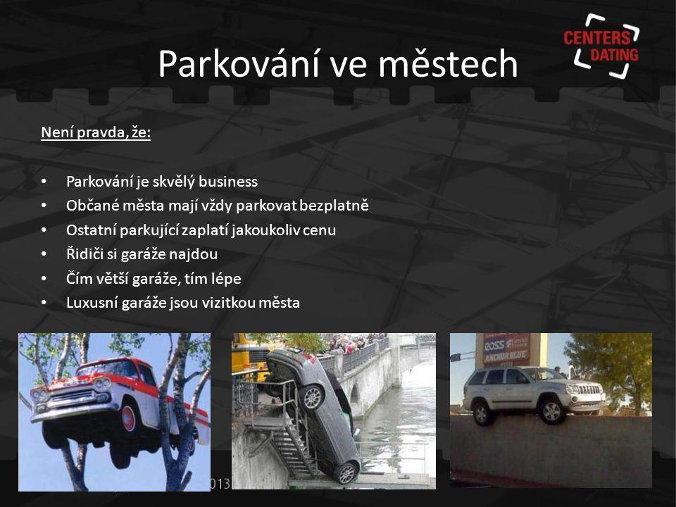 Parkování ve městech Není pravda, že: Parkování je skvělý business