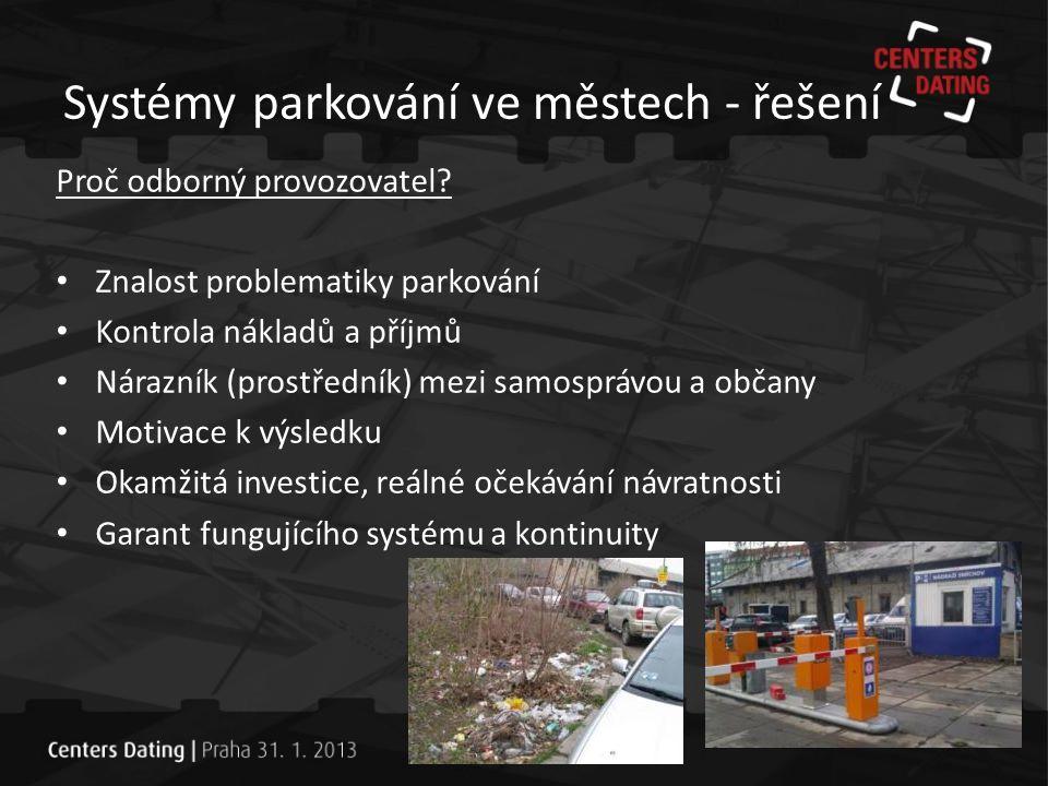 Systémy parkování ve městech - řešení