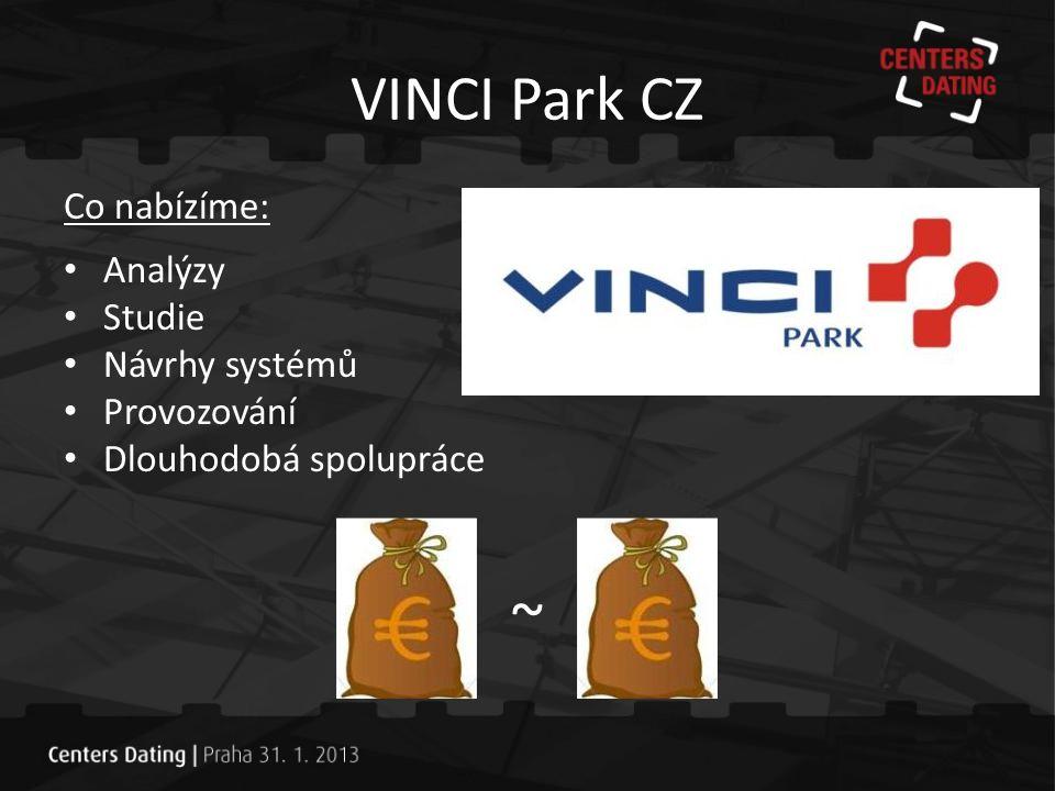 ~ VINCI Park CZ Co nabízíme: Analýzy Studie Návrhy systémů Provozování
