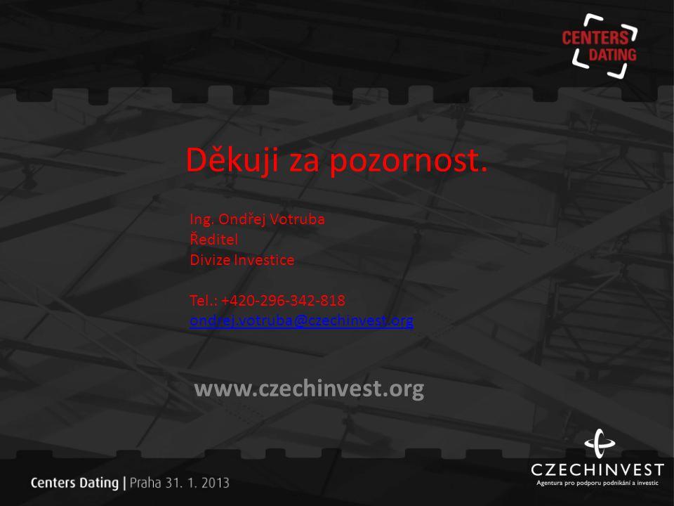 Děkuji za pozornost. www.czechinvest.org Ing. Ondřej Votruba Ředitel