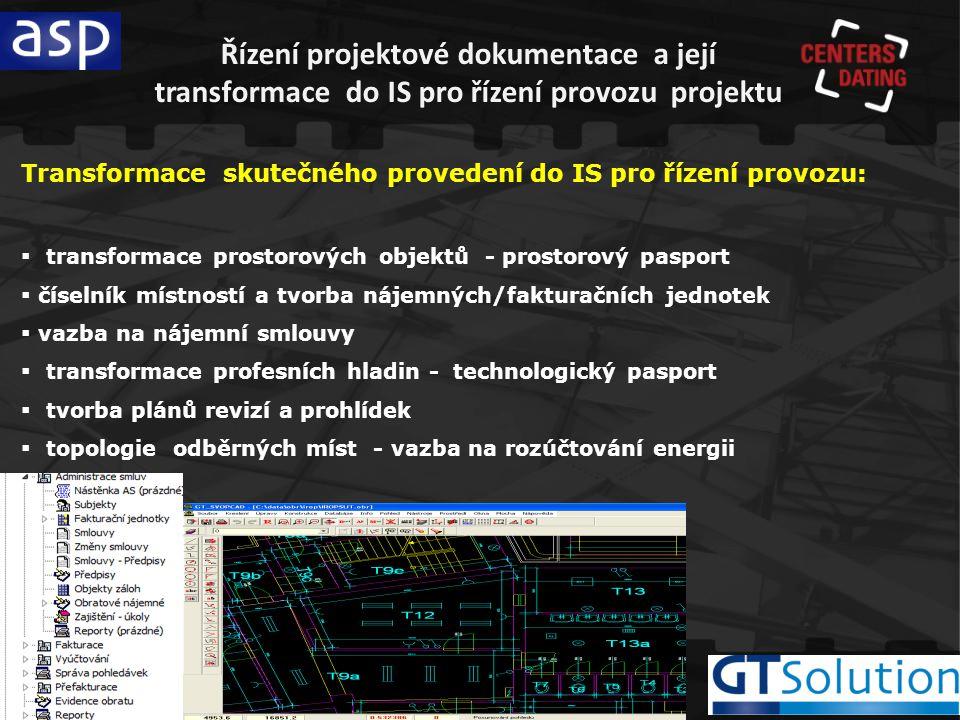 Řízení projektové dokumentace a její transformace do IS pro řízení provozu projektu