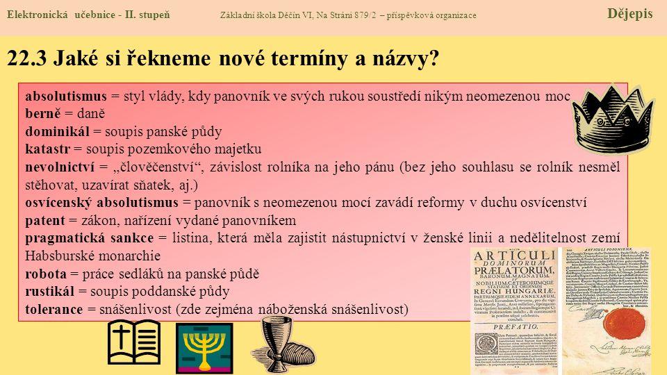 22.3 Jaké si řekneme nové termíny a názvy