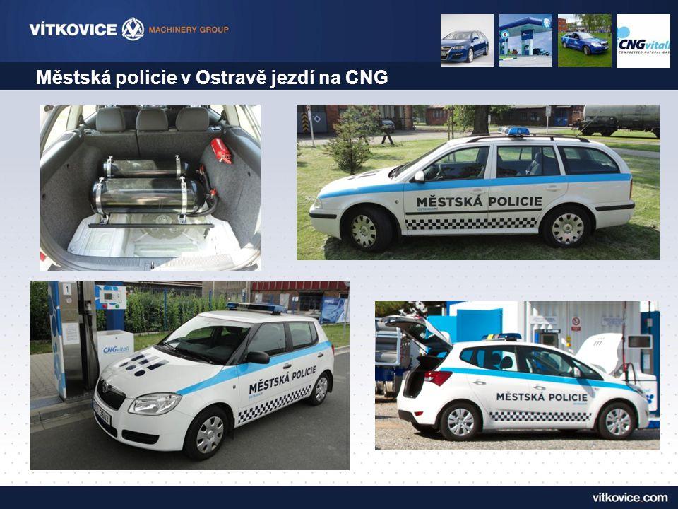 Městská policie v Ostravě jezdí na CNG