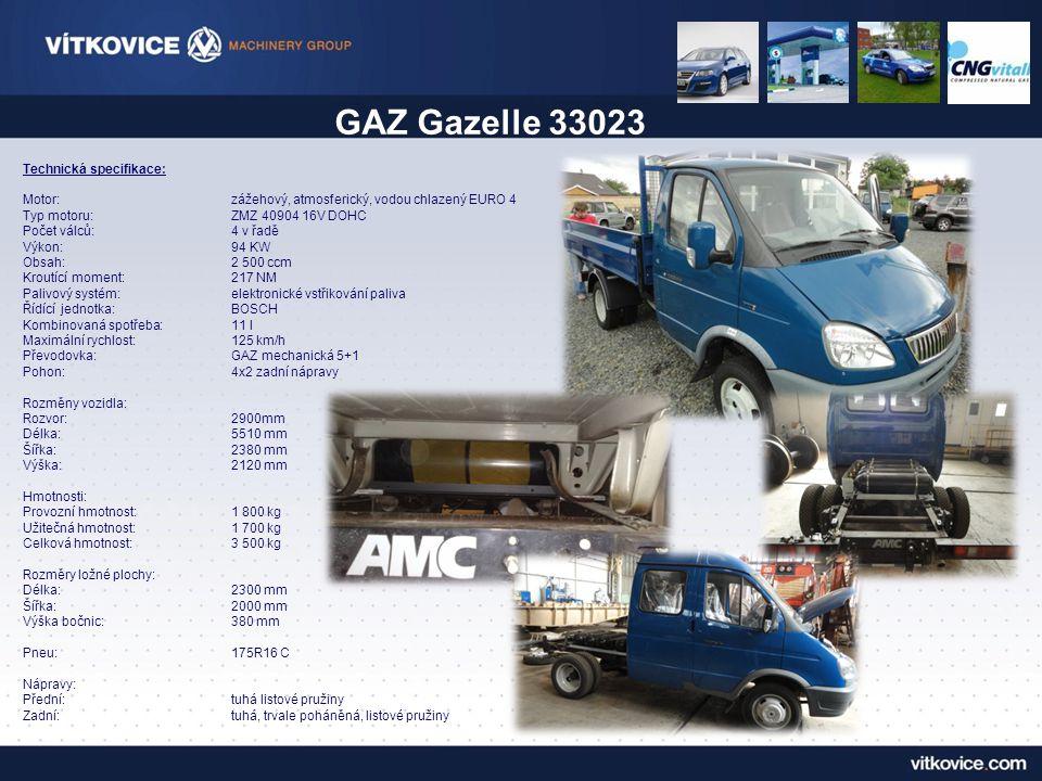 GAZ Gazelle 33023 Technická specifikace: