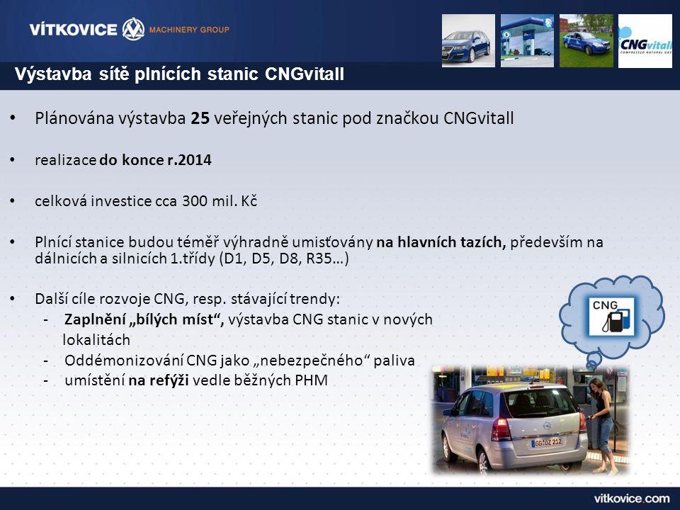 Plánována výstavba 25 veřejných stanic pod značkou CNGvitall