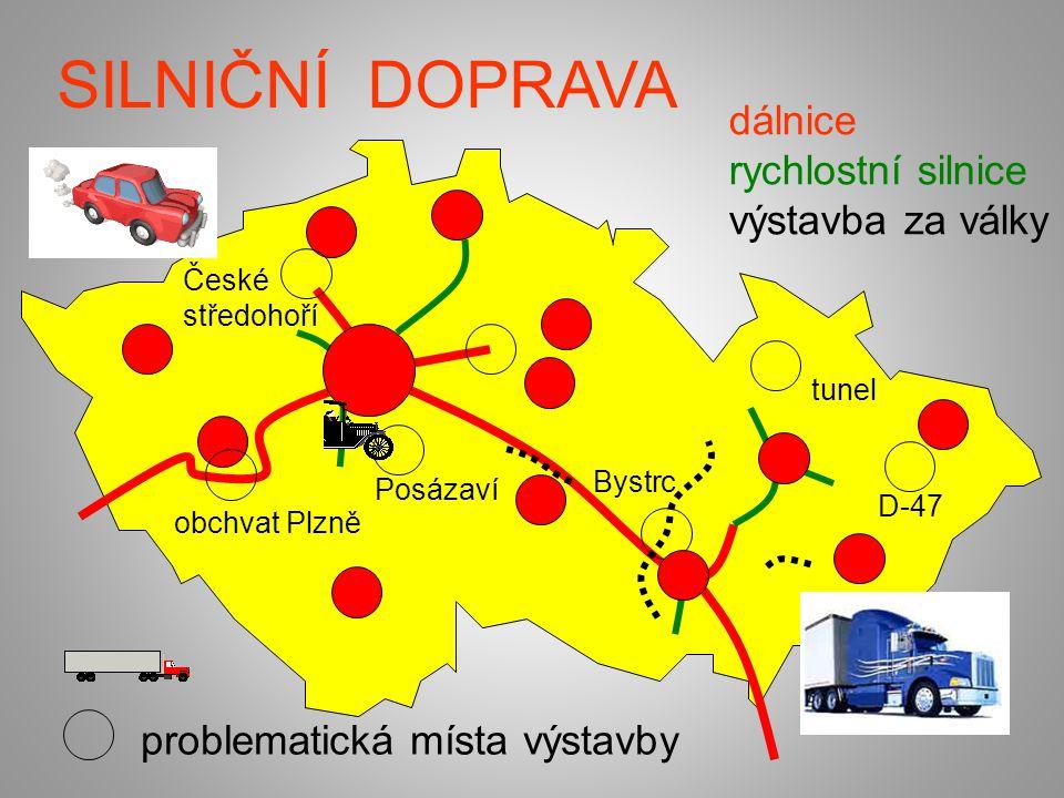 SILNIČNÍ DOPRAVA dálnice rychlostní silnice výstavba za války