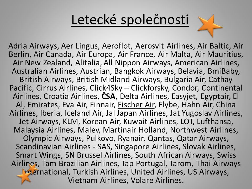 Letecké společnosti
