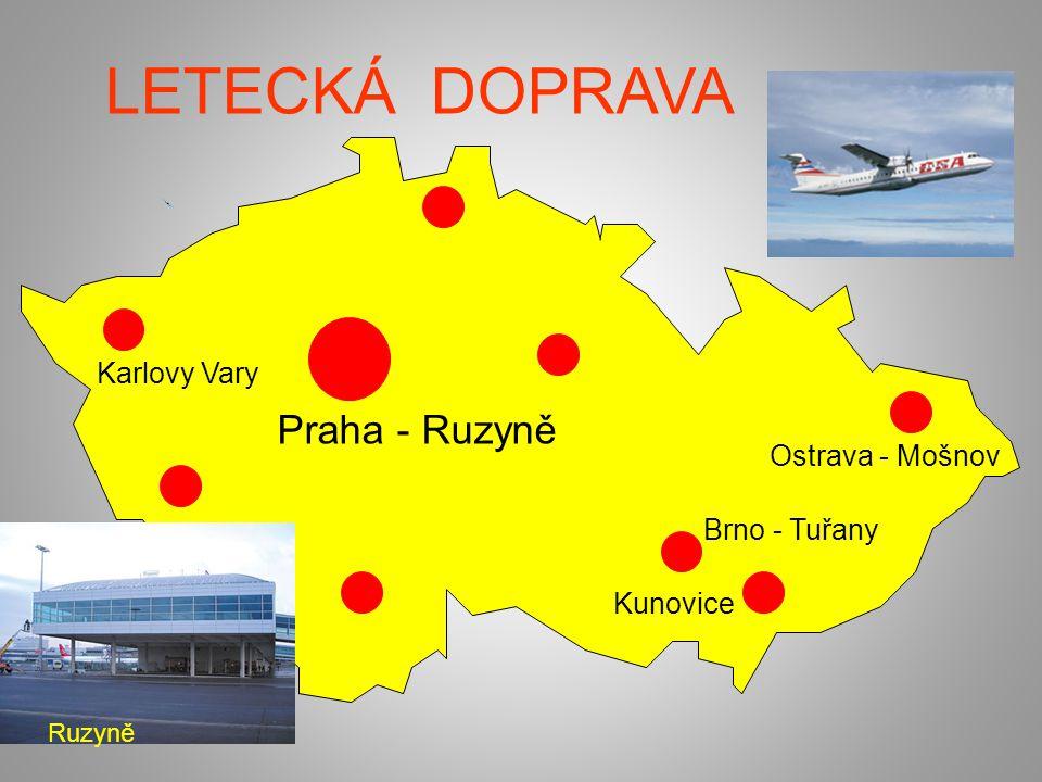 LETECKÁ DOPRAVA Praha - Ruzyně Karlovy Vary Ostrava - Mošnov