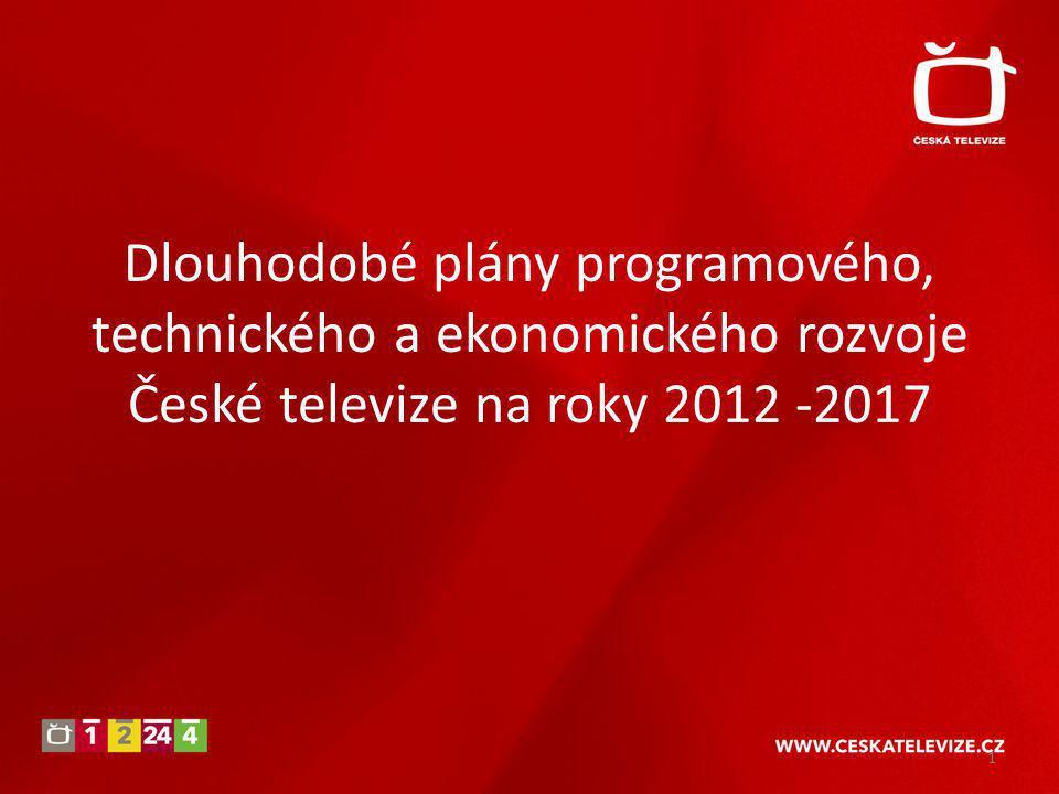 Dlouhodobé plány programového, technického a ekonomického rozvoje České televize na roky 2012 -2017