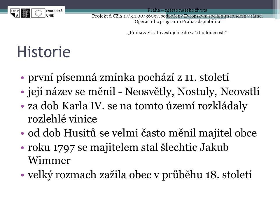 Historie první písemná zmínka pochází z 11. století