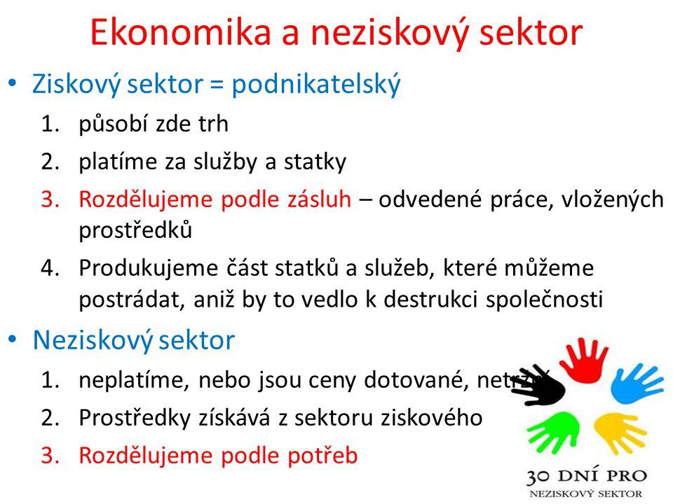 Ekonomika a neziskový sektor