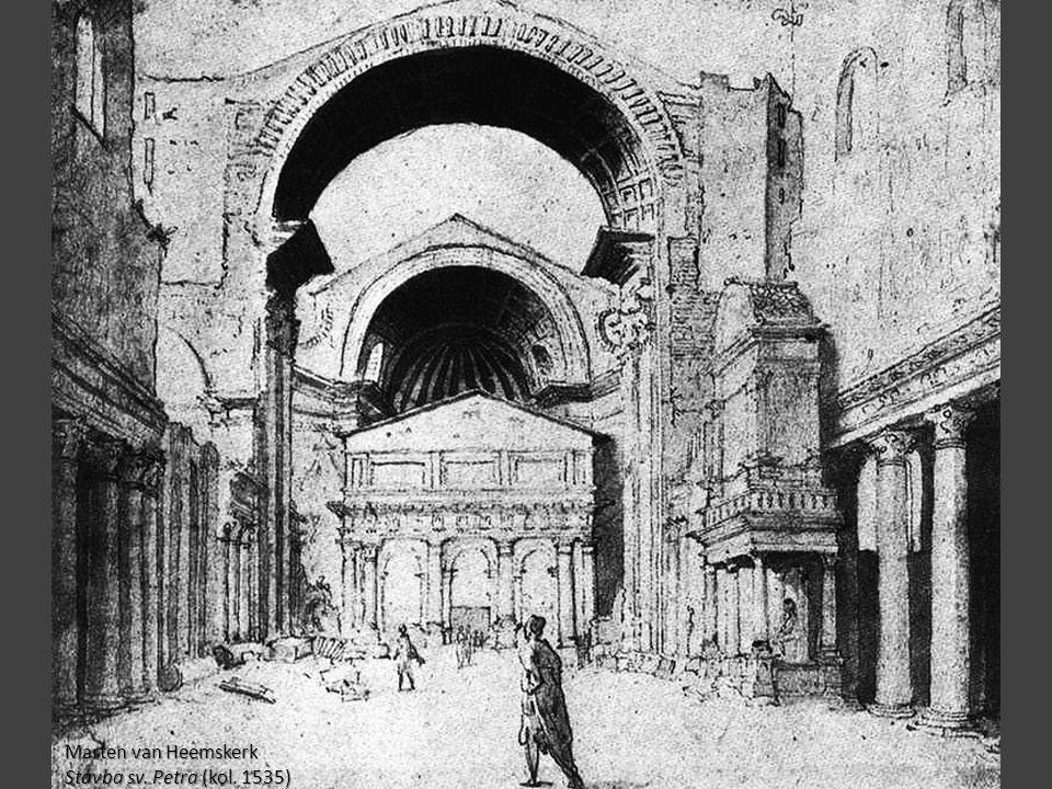 Marten van Heemskerk Stavba sv. Petra (kol. 1535)
