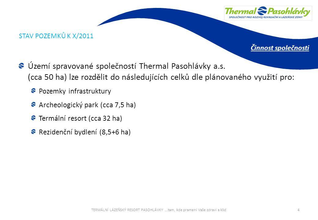 STAV POZEMKŮ K X/2011 Činnost společnosti.