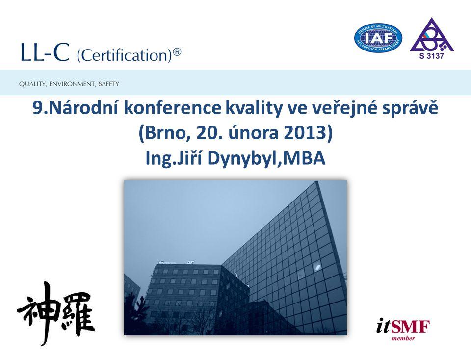9. Národní konference kvality ve veřejné správě (Brno, 20