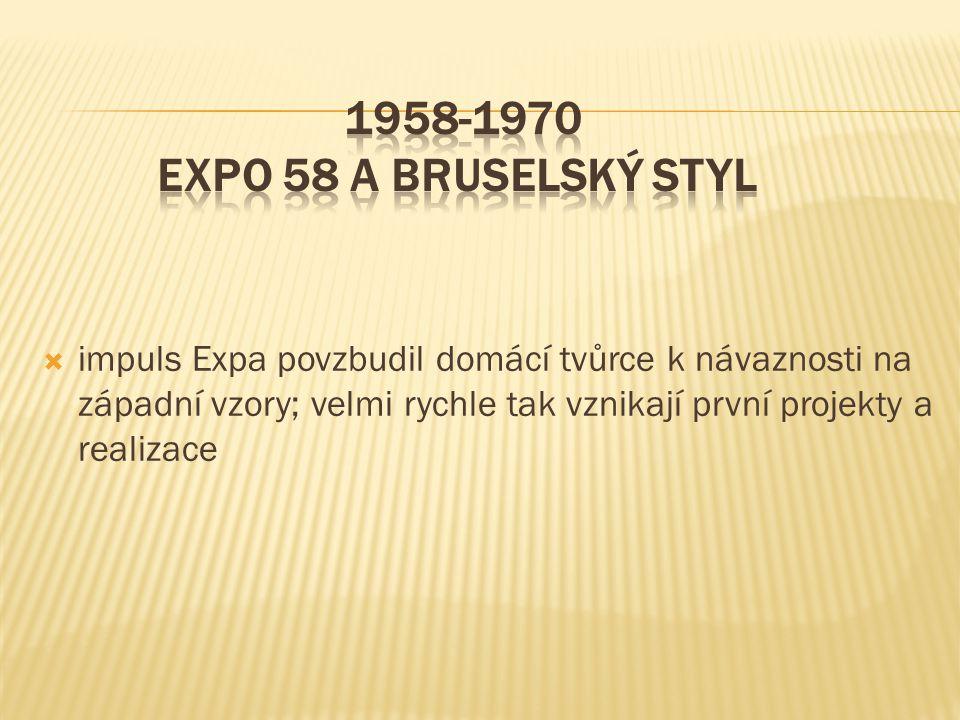 1958-1970 EXPO 58 a bruselský styl