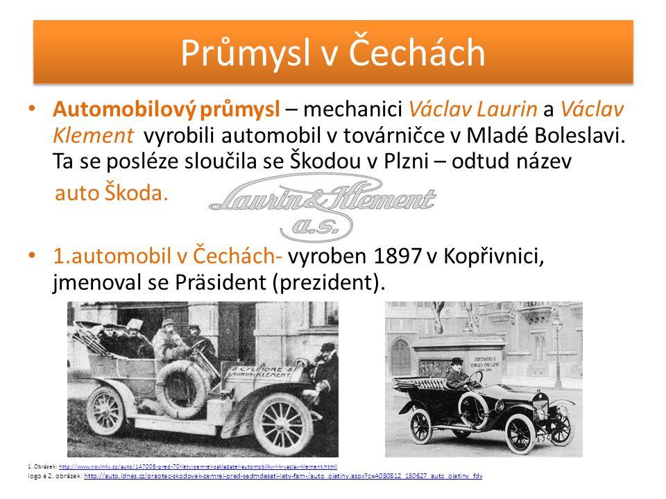 Průmysl v Čechách