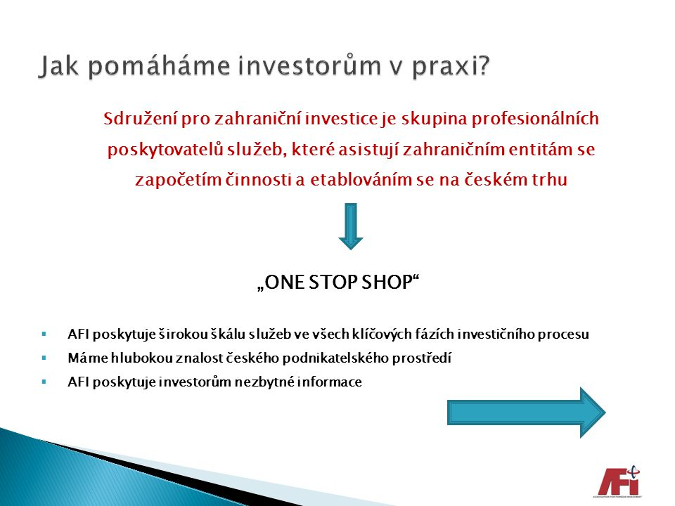 Jak pomáháme investorům v praxi