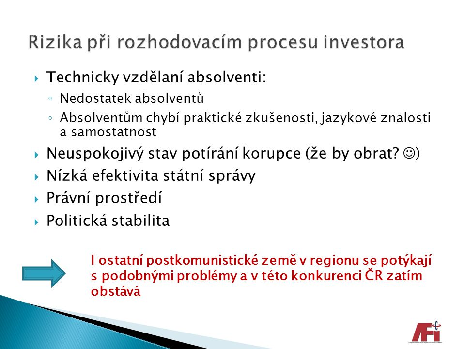 Rizika při rozhodovacím procesu investora