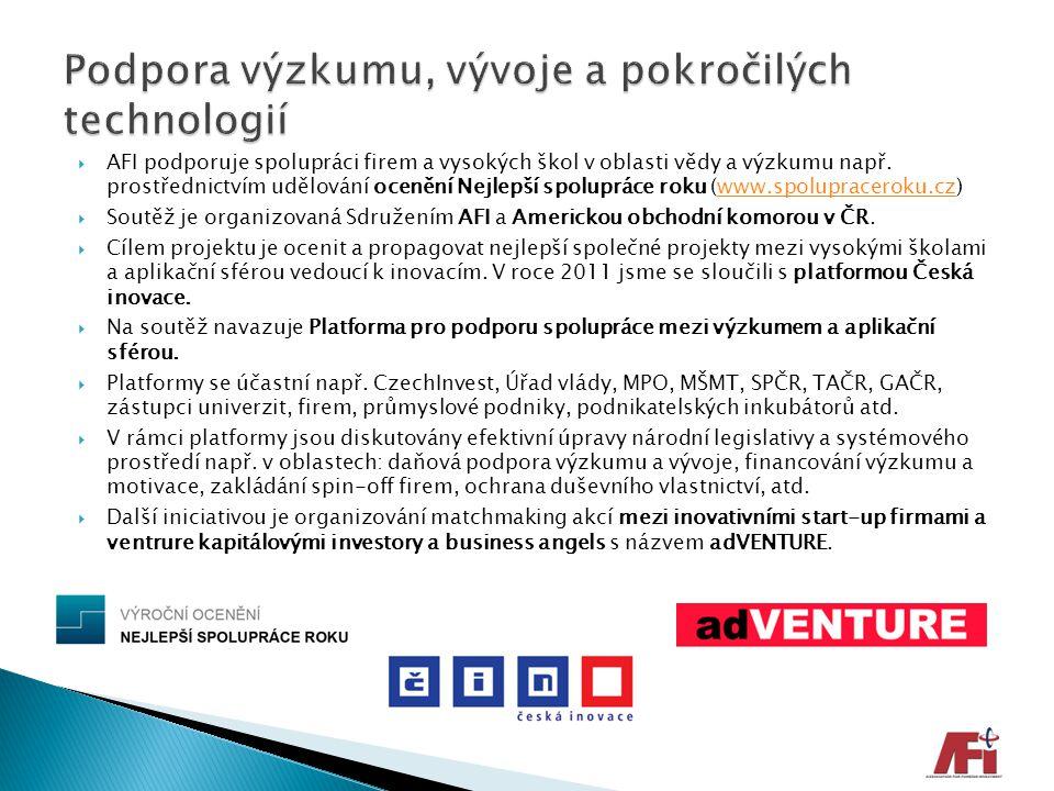 Podpora výzkumu, vývoje a pokročilých technologií
