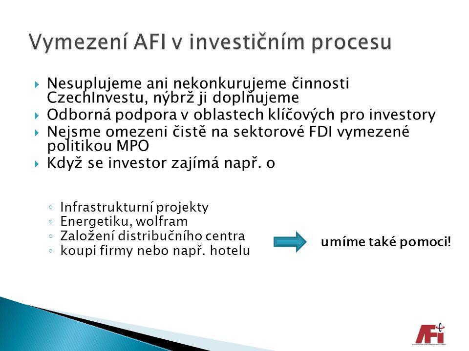 Vymezení AFI v investičním procesu