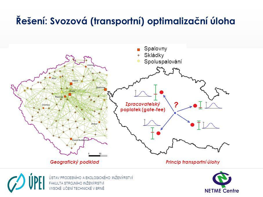 Řešení: Svozová (transportní) optimalizační úloha