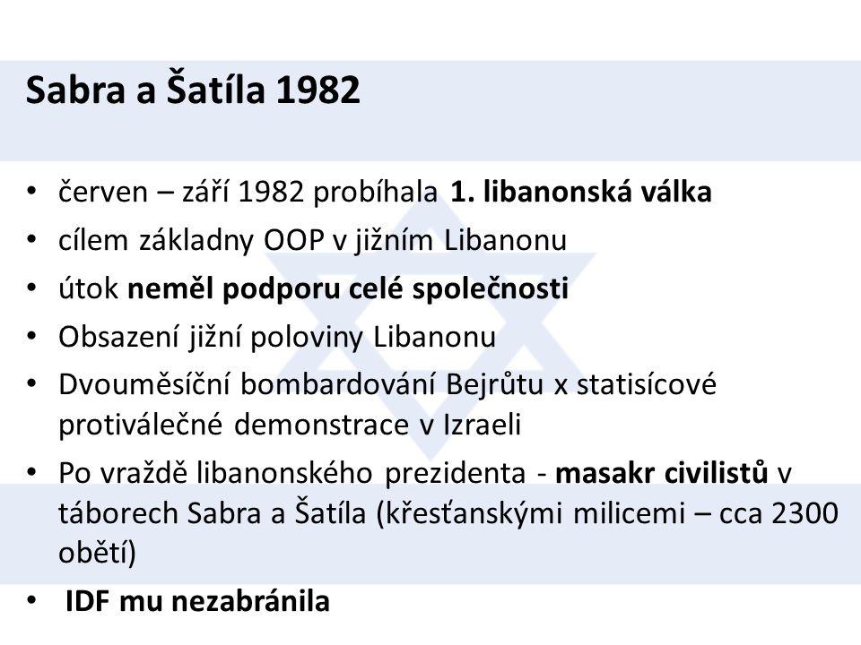 Sabra a Šatíla 1982 červen – září 1982 probíhala 1. libanonská válka