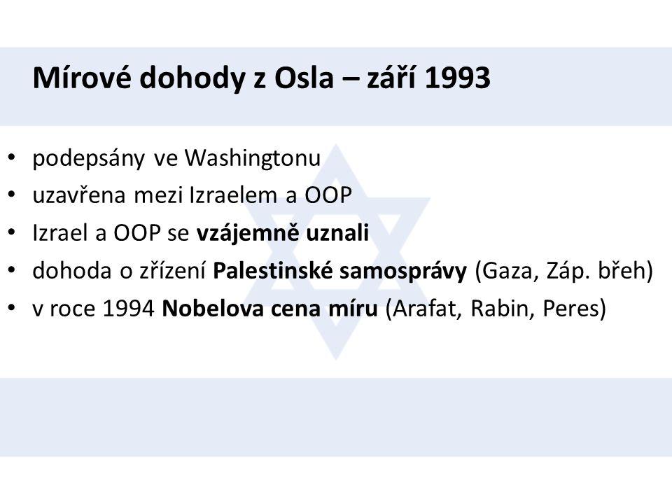 Mírové dohody z Osla – září 1993