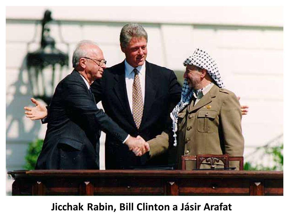 Jicchak Rabin, Bill Clinton a Jásir Arafat