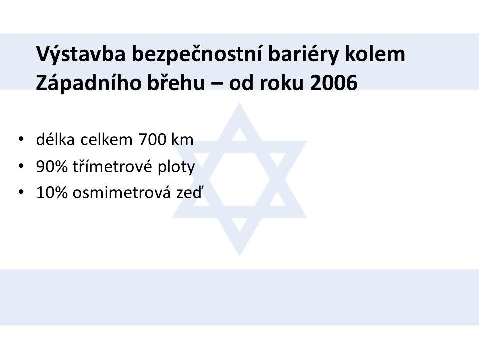 Výstavba bezpečnostní bariéry kolem Západního břehu – od roku 2006