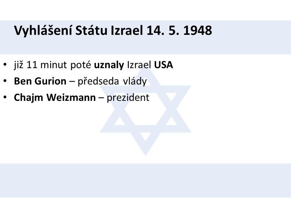 Vyhlášení Státu Izrael 14. 5. 1948