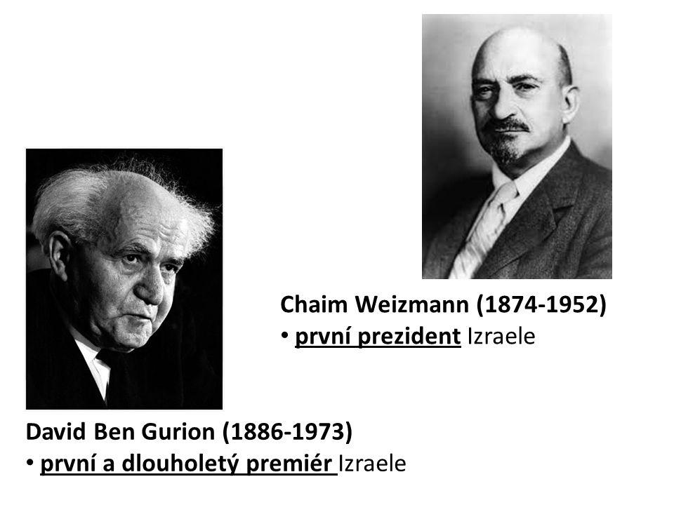 Chaim Weizmann (1874-1952) první prezident Izraele.