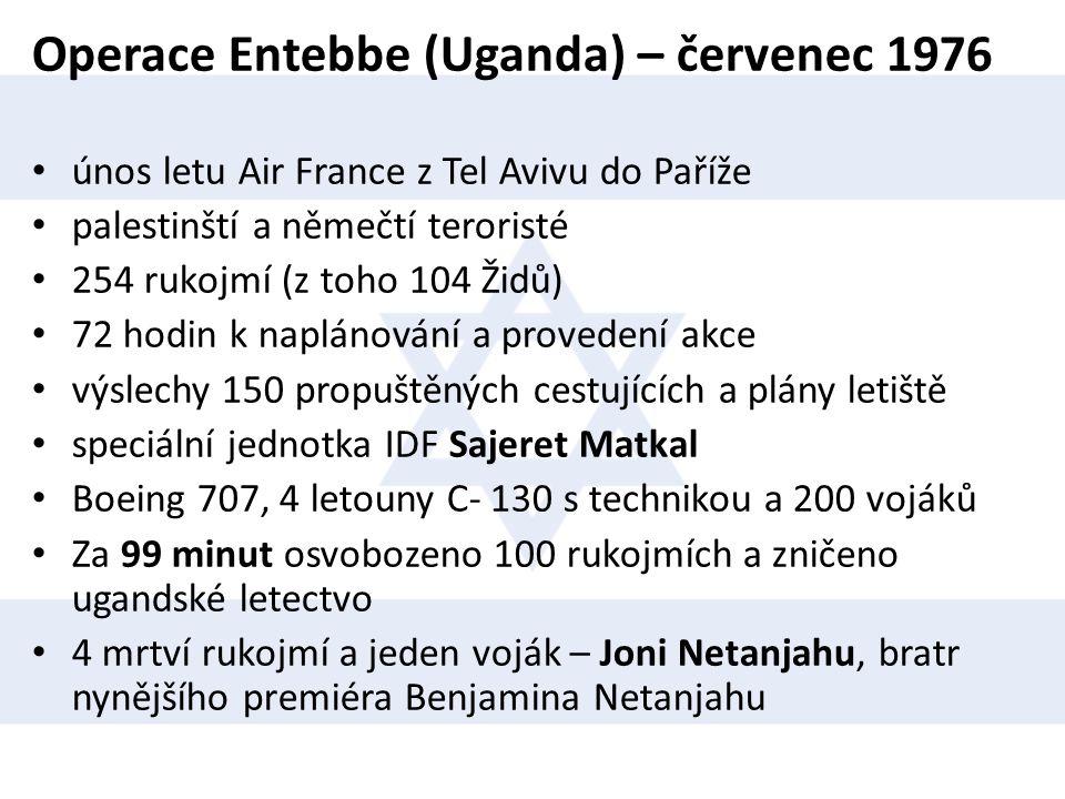 Operace Entebbe (Uganda) – červenec 1976