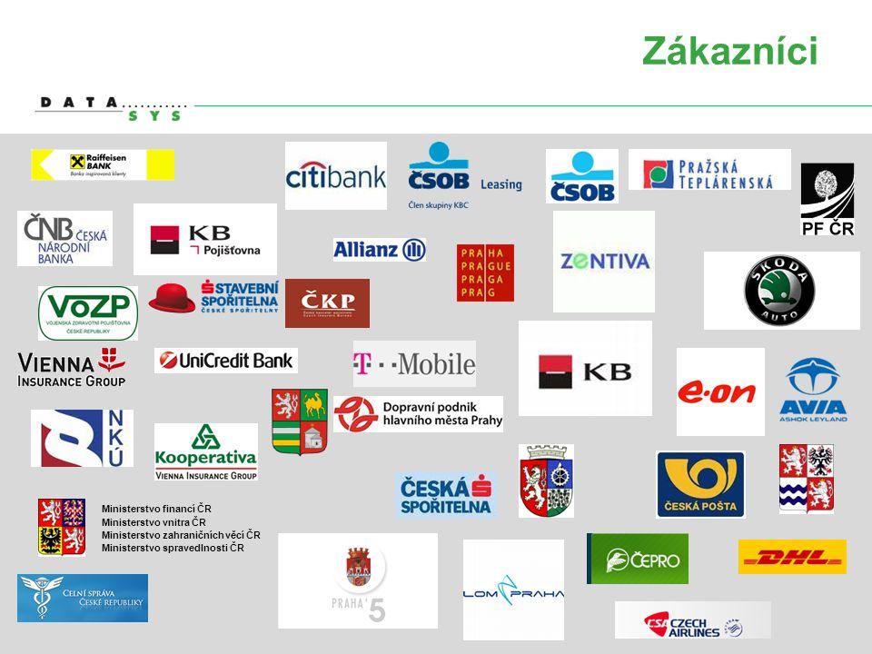 Zákazníci Ministerstvo financí ČR Ministerstvo vnitra ČR