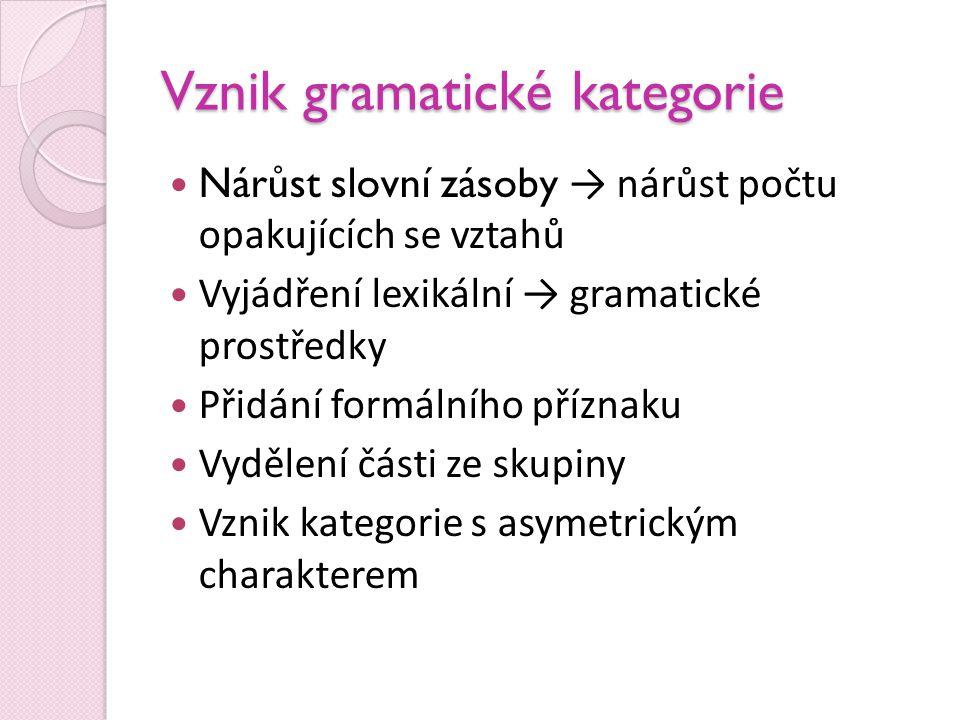 Vznik gramatické kategorie